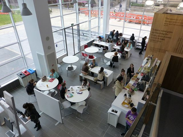 Possibly implementing a cafe into the library? Learning Commons Busy Cafe | Flickr - Photo Sharing!