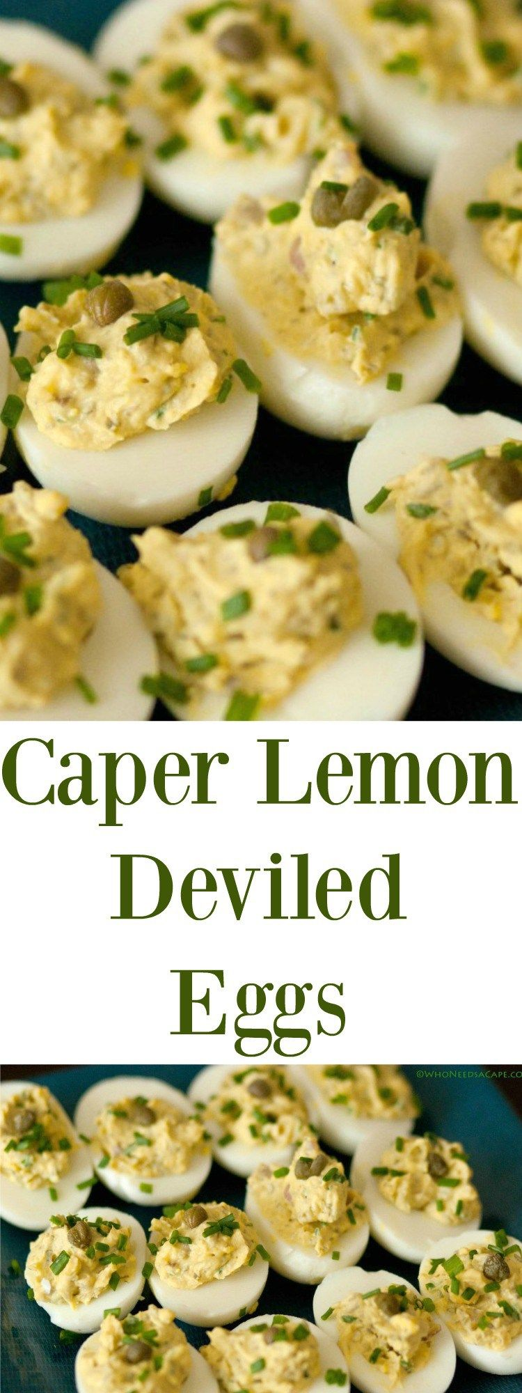 Caper Lemon Deviled Eggs | Who Needs A Cape?