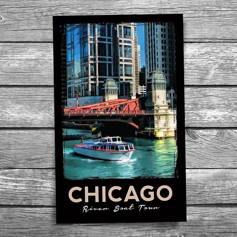 Chicago Wendella Boat Tours Postcard Boat tours, Tours
