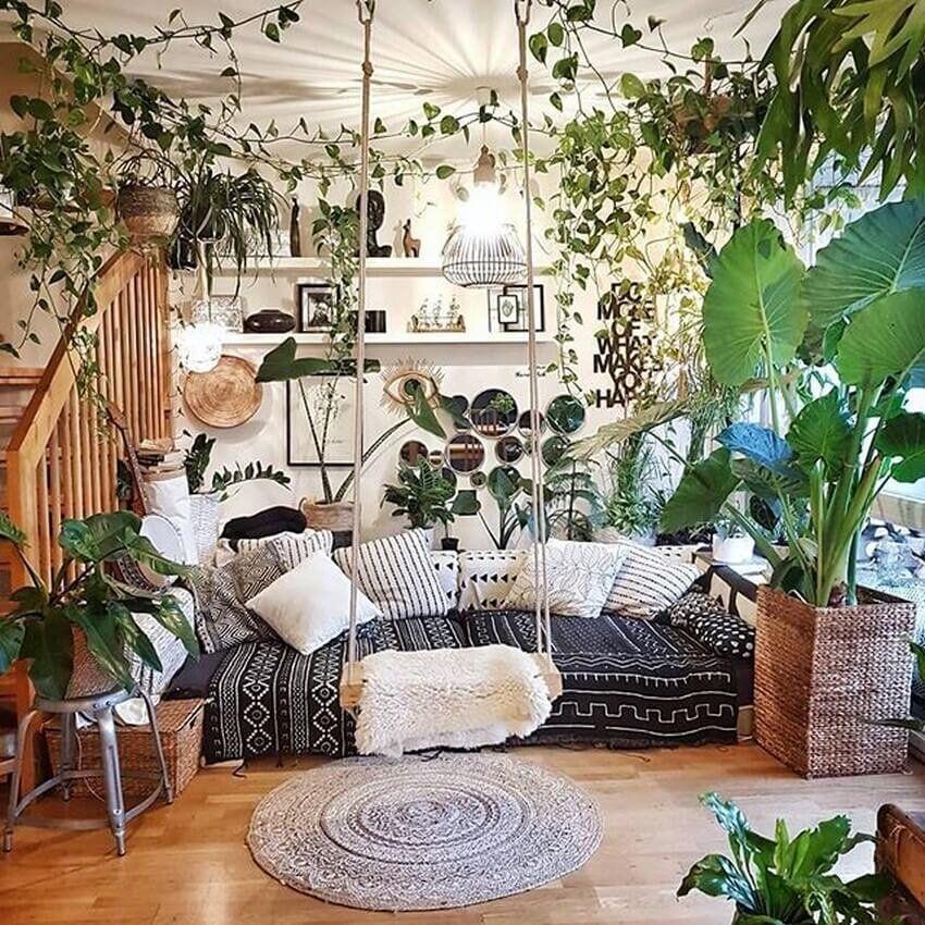 Jungalows Indoor Gardens Living Room Rainforests We D Copy Right Now Bohemian Bedroom Decor Home Decor Interior Design