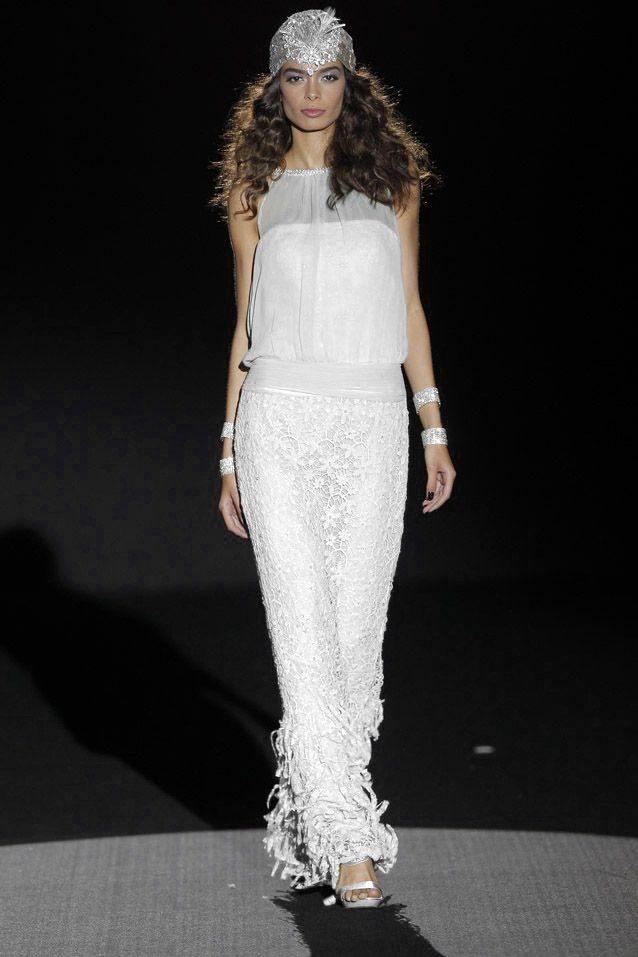 Sonia Peña vestidos de fiesta 2015 color blanco. Disponible en: www.boutiqueclara.com