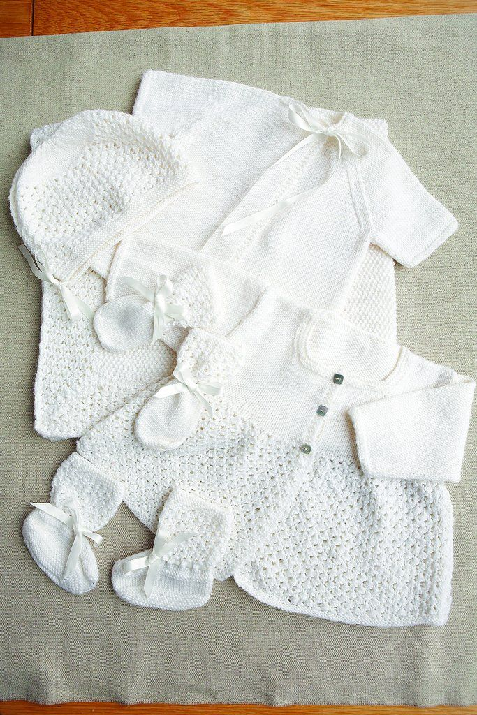 Vintage Baby Outfit And Blanket Set Knitting Patterns | Knitted baby ...