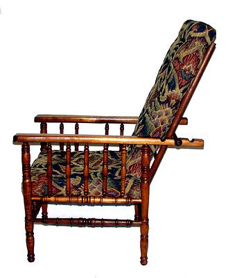 Childs FauxBamboo William Morris Chair Wupholstered Cushions - William morris chairs