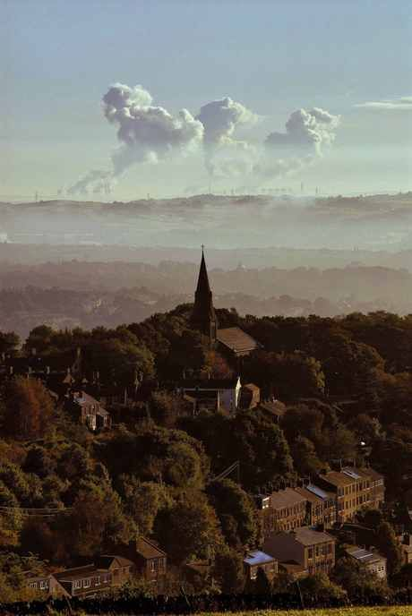 From Bolster Moor towards St John's Church, Golcar and beyond Ferrybridge by Gary Quarmby