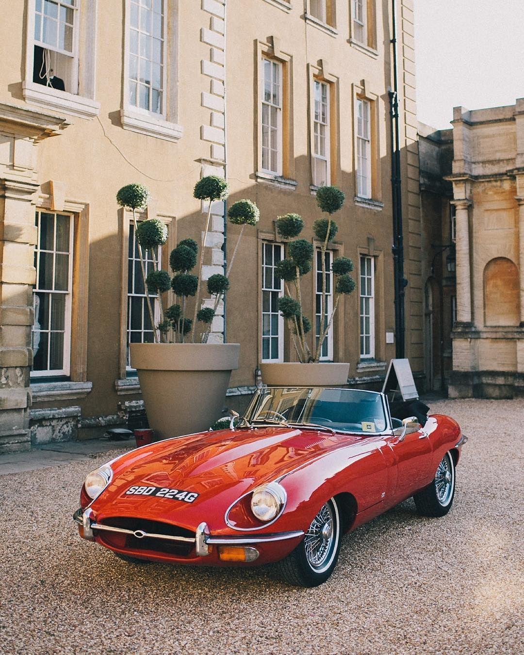 Classic Red Jaguar London Aynhoepark Wedding Alternativebride Alternativeweddingphotographer Wehea Jaguar Car Cool Sports Cars Jaguar