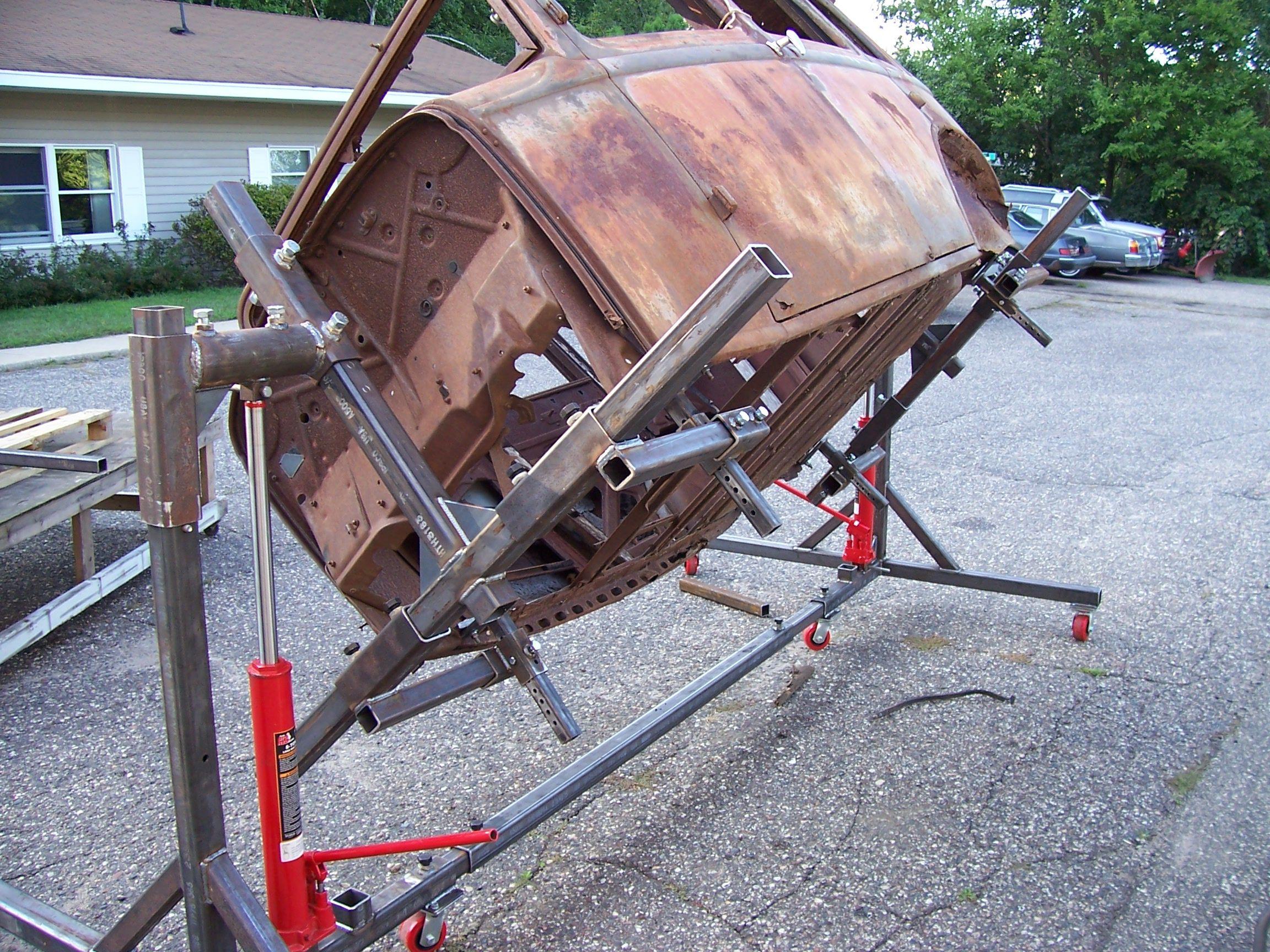 Auto Rotisserie Plans Cars Metals And Garage Workshop