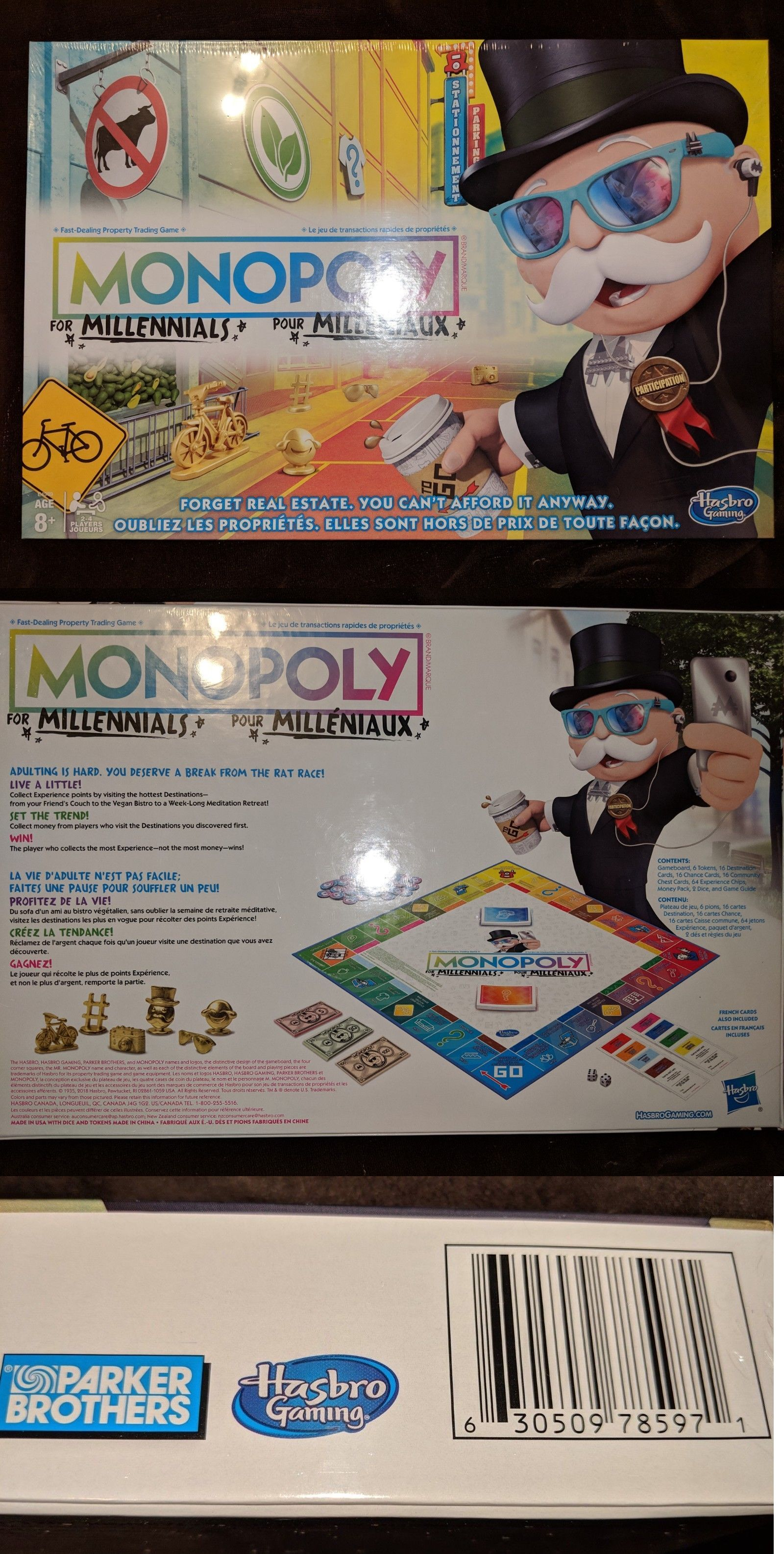 Monopoly for Millennials Board Game BRAND NEW FACTORY SEALED Hasbro Millenials