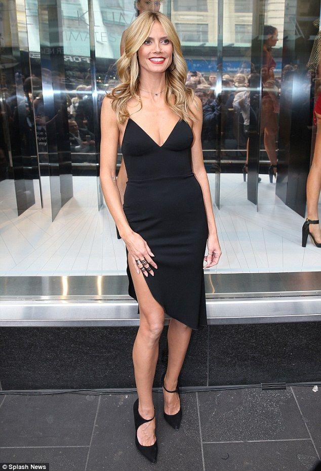 71ba605cd88473 Heidi Klum narrowly avoids wardrobe malfunction as she showcases her new  Heidi Klum Intimates lingerie range in Melbourne