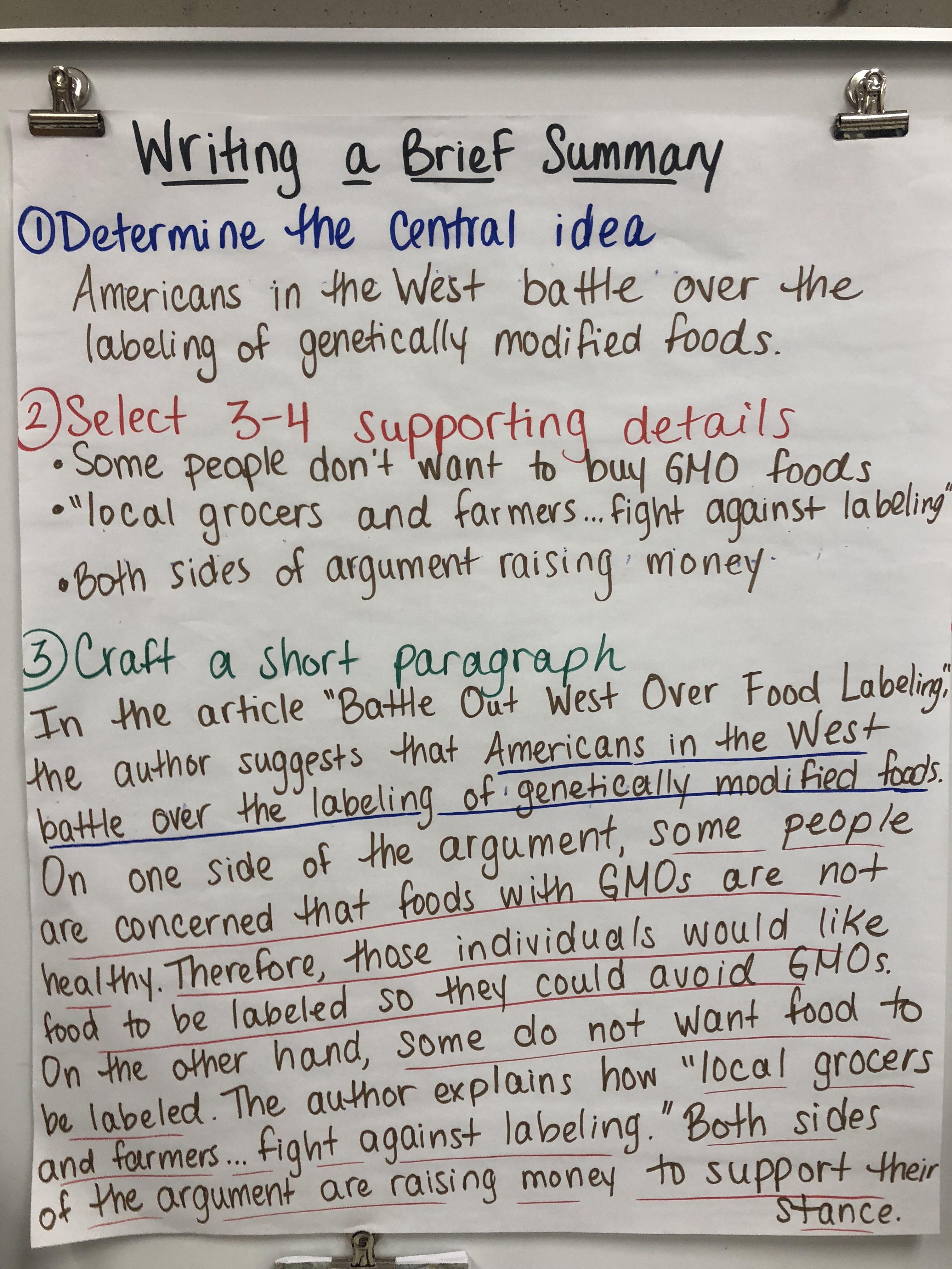 Writing A Summary 8th Grade Reading Writing Anchor Charts 6th Grade Reading [ 4032 x 3024 Pixel ]