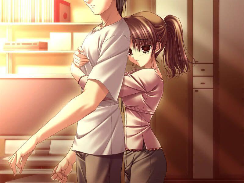 Anime boy and girl hug fantasy world pinterest anime - Anime boy hugging girl ...
