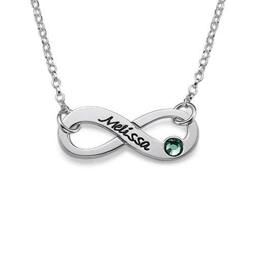 Engraved swarovski infinity necklace infinity and swarovski engraved swarovski infinity necklace aloadofball Choice Image