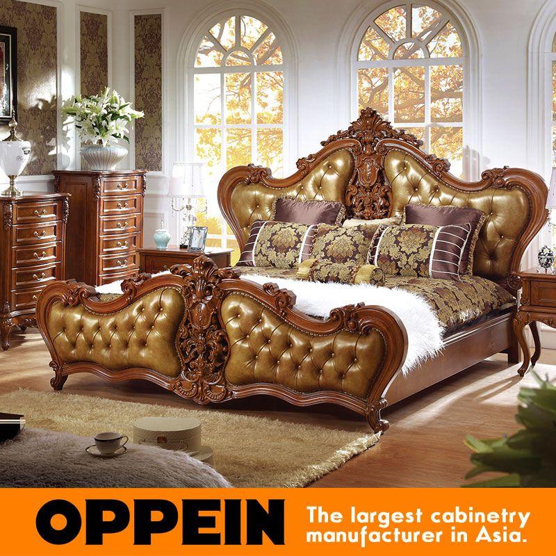 Luxus Traditionellen Bett Mit Polster Kopfteil Schlafzimmer Möbel Aus China Möbelfabrik Ob 0314043