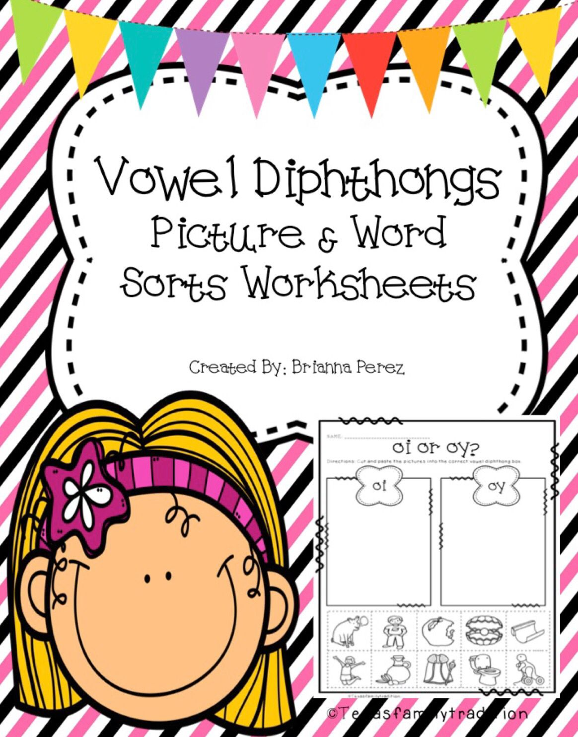 Vowel Diphthongs Worksheet Sorts