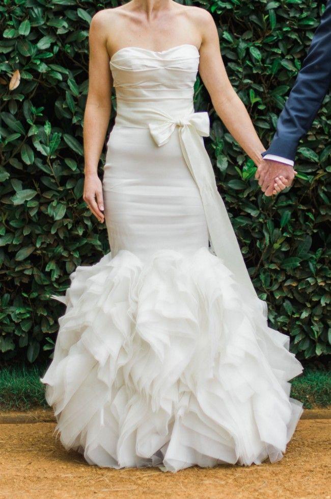 Vera Wang Ethel Silk Size 8 Wedding Dress For Sale Still White New Zealand Second Hand Wedding Dresses Wedding Dresses Wedding Dresses For Sale