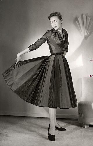 Feminist black and white dress.