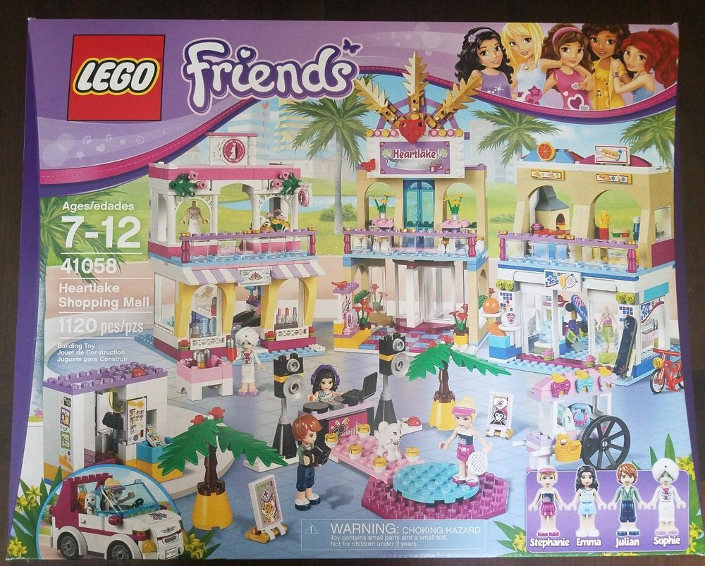 Lego Friends 41058 Heartlake Shopping Mall Nib Retired