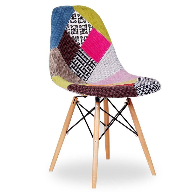 Gossage Patchwork Upholstered Dining Chair Patchwork