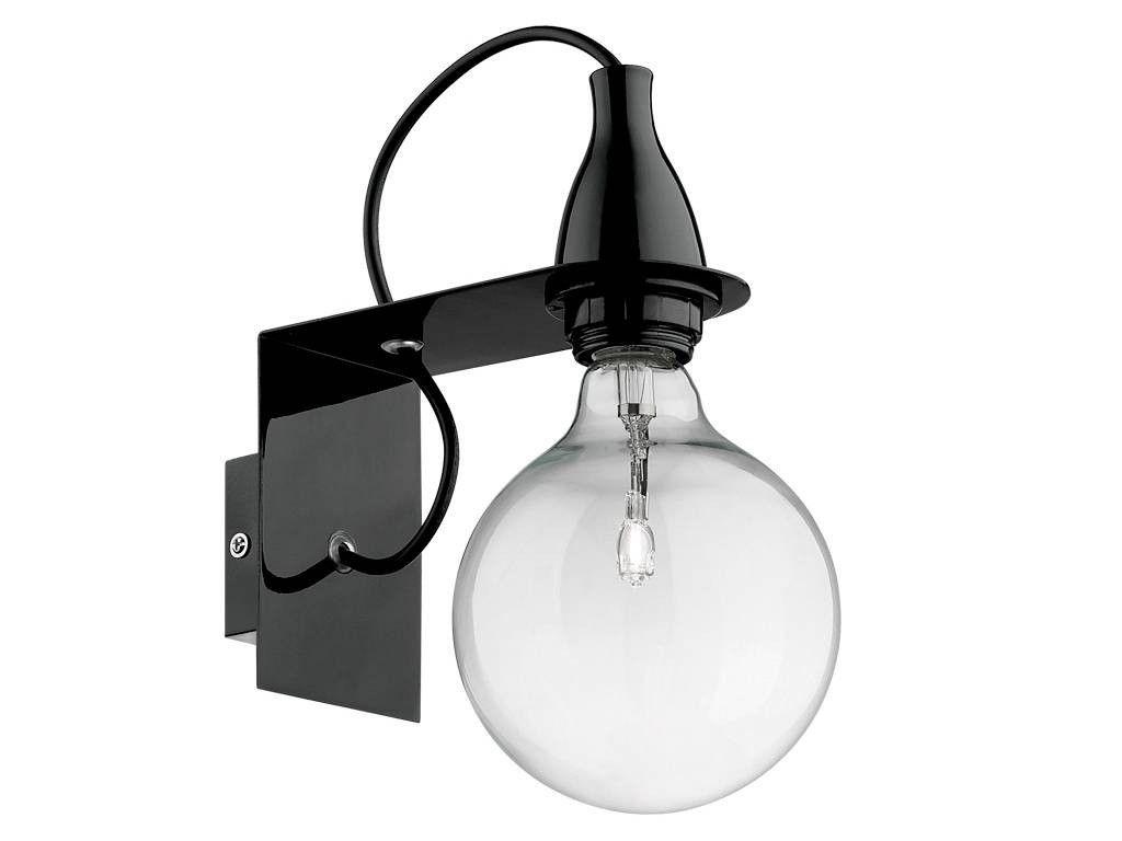 Minimal applique con montatura in metallo casa turchese lighting