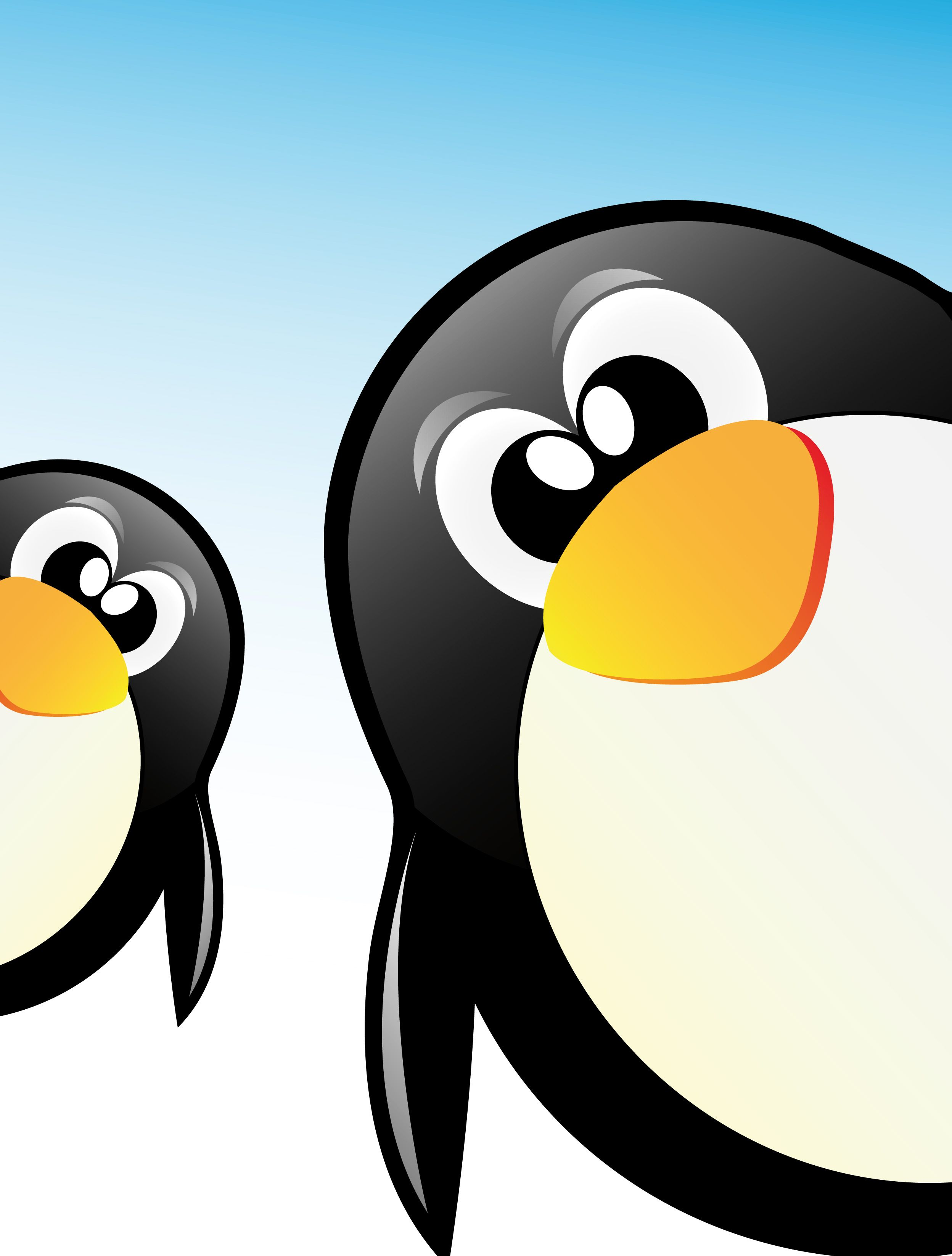 Funny penguins design elements vector 05