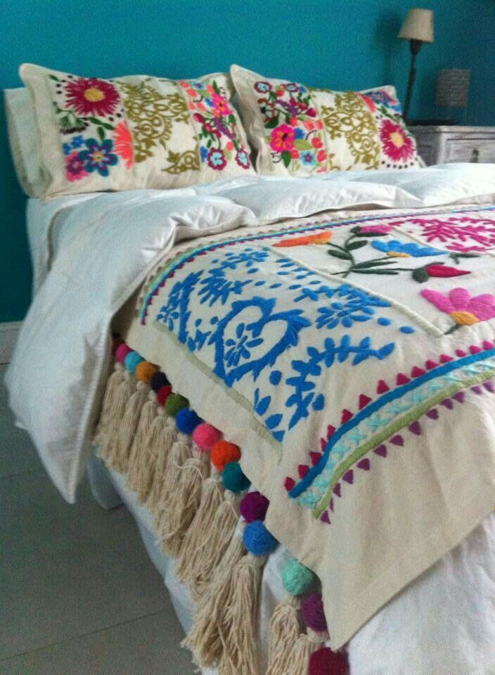 boho bettw sche home sweet home pinterest mexicanos. Black Bedroom Furniture Sets. Home Design Ideas