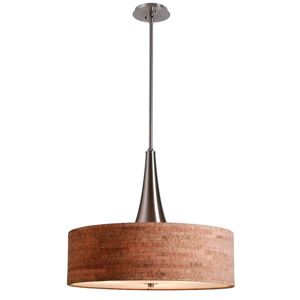 Overstock Pendant Lights Entrancing Bachman 22Inch Brushed Steel Cork Pendant  Overstock Shopping Inspiration