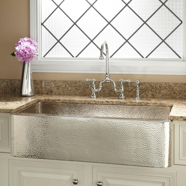 Copper Sinks 25 Ideas For The Kitchen Farmhouse Sink Kitchen Copper Farmhouse Sinks Ikea Farmhouse Sink