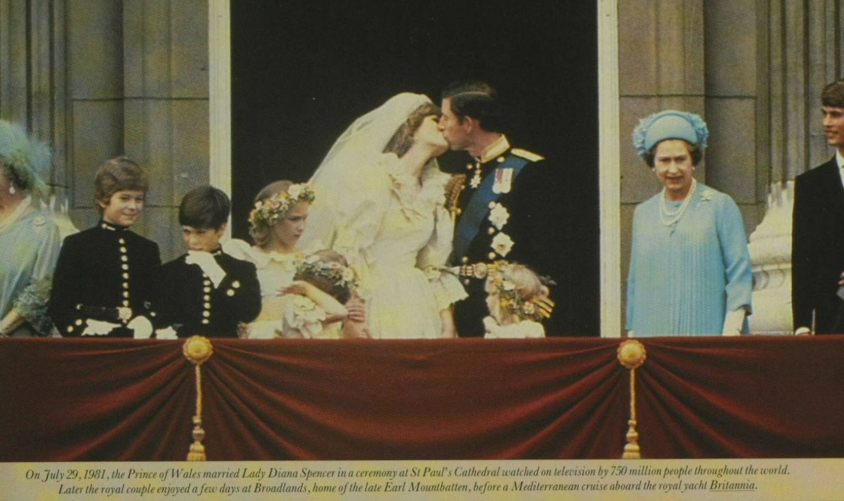 On July 29, 1981, the Prince of Wales married Lady Diana
