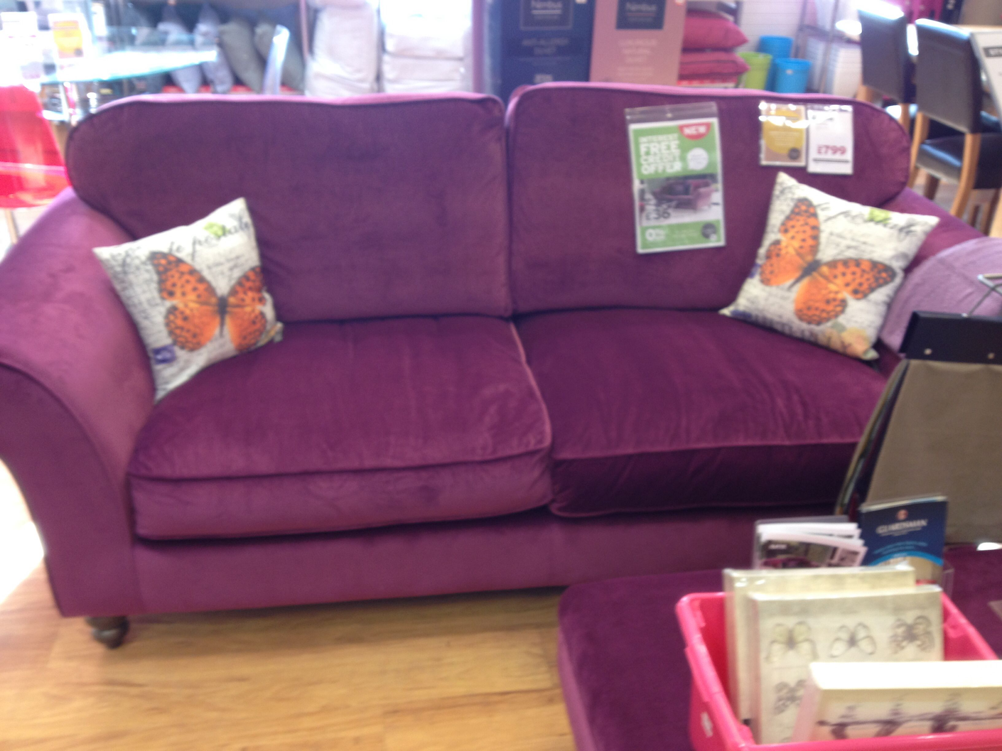Loving the vibrant purple and luscious velvet Katie found in