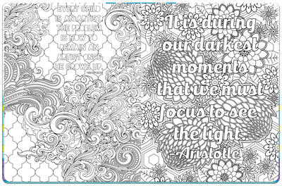 inspirational coloring book is designed for kids and adults alike with 125 coloring pages with an soul soothing quote on each one - Inspirational Coloring Pages