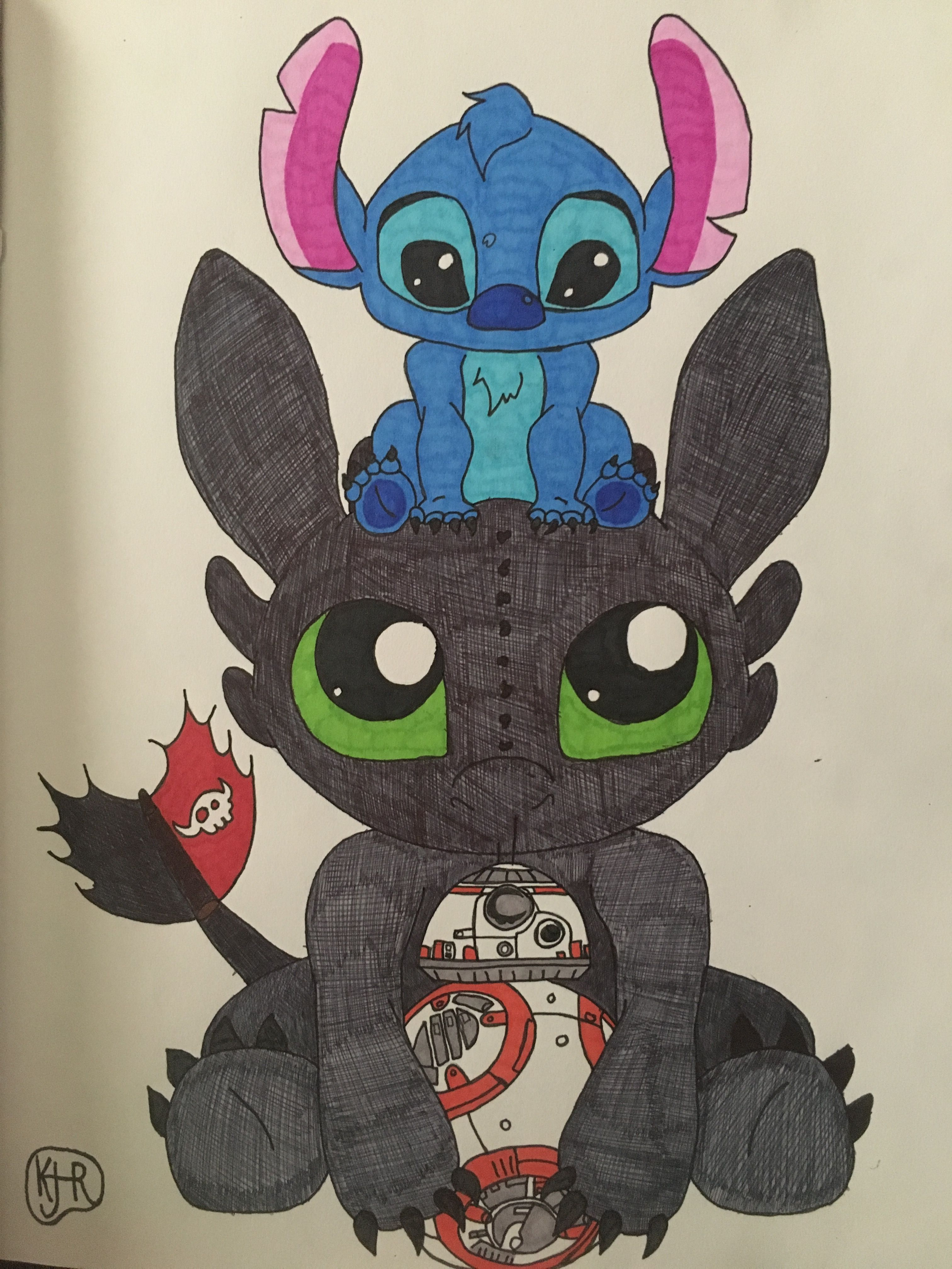 Cute Stitch On Side Wallpaper Stitch And Toothless My Art In 2019 Disney Drawings