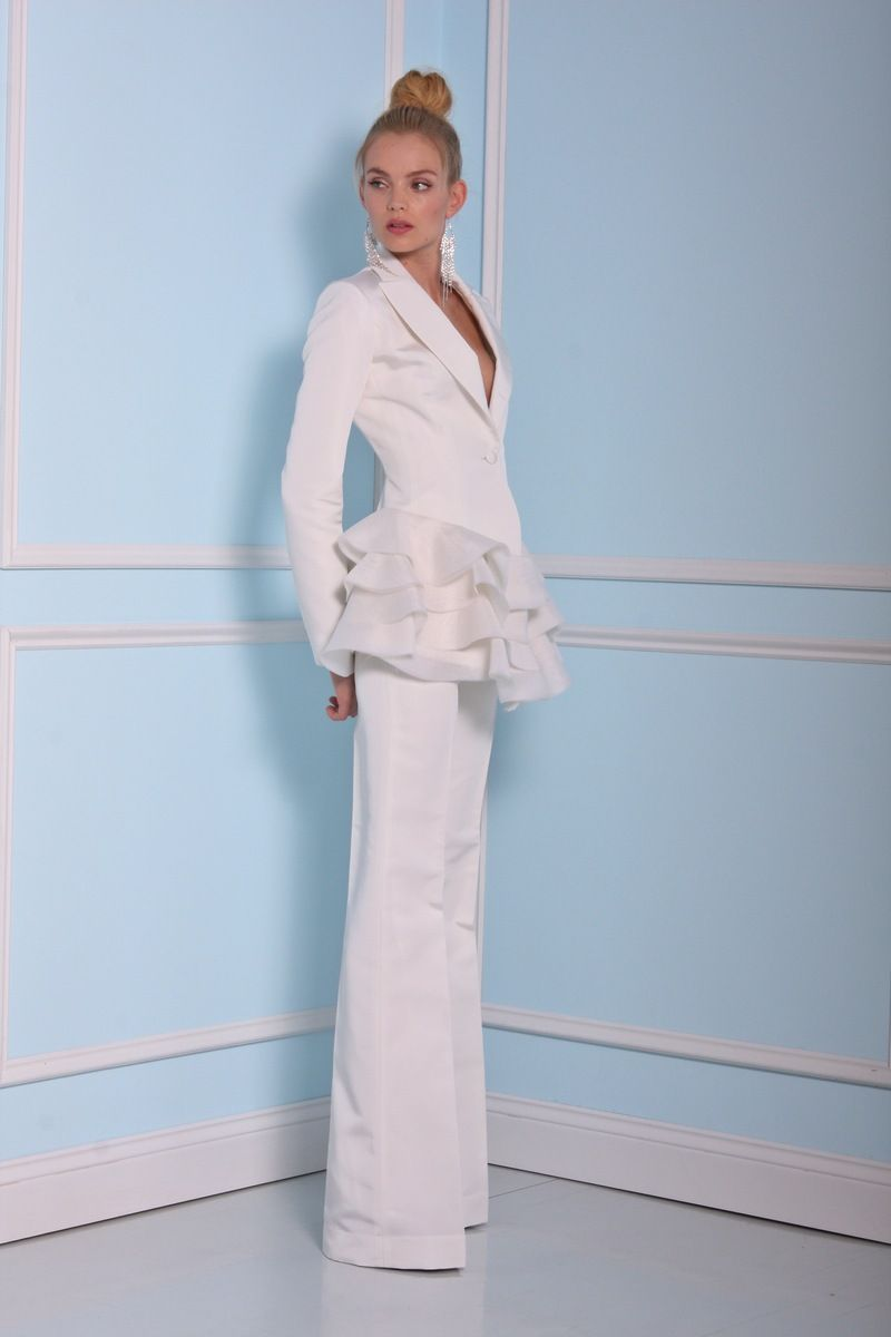 bride pant suit | Bridal Pant Suits | Pinterest | Christian siriano ...