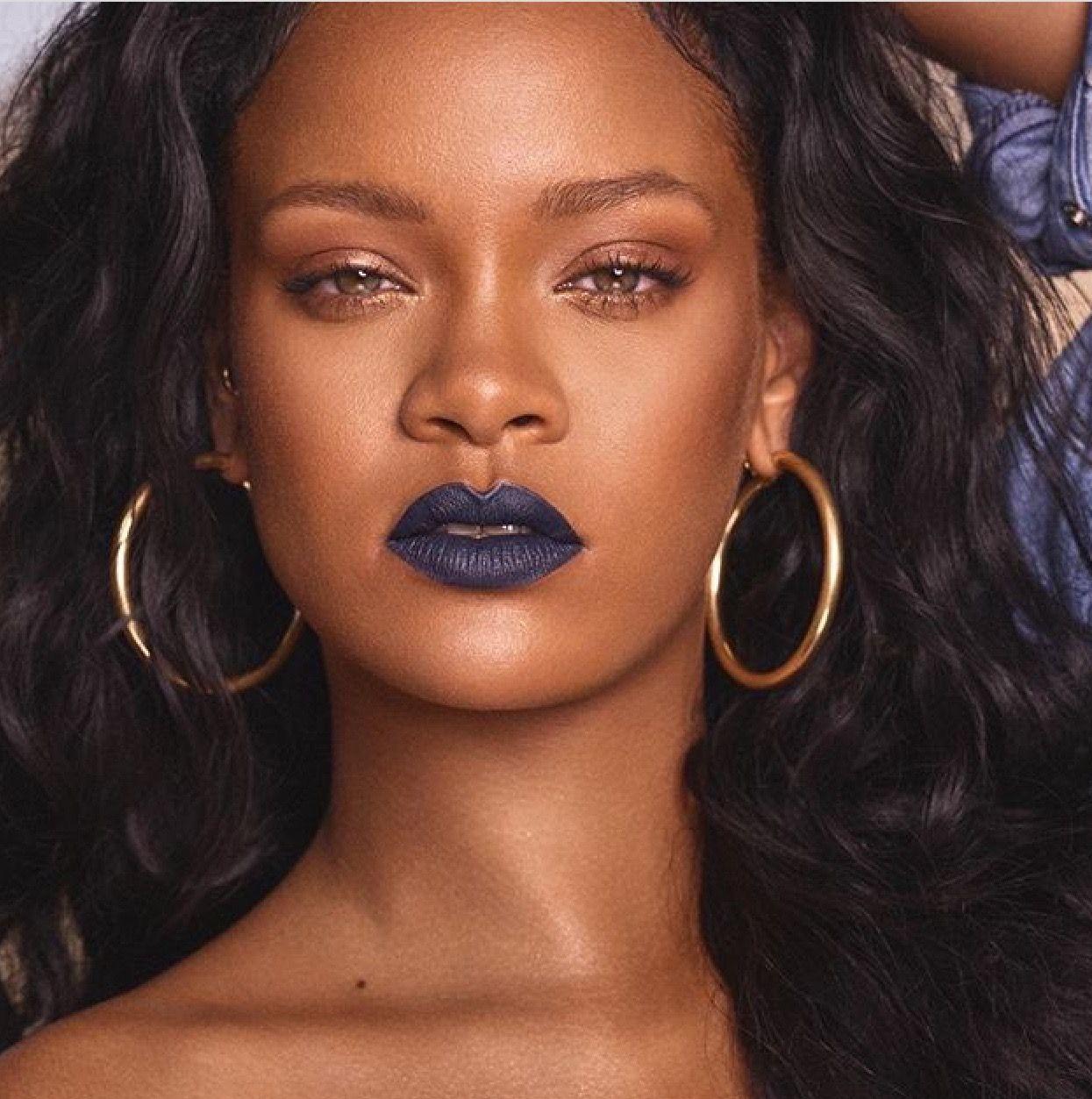 Rihanna Fenty Beauty Blue lipstick, Beauty lipstick