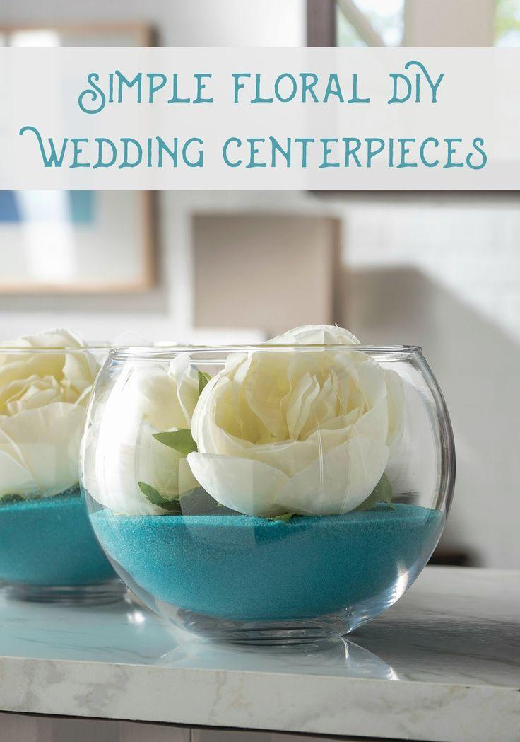 Quick Floral DIY Wedding Centerpieces   Pinterest   Wedding ...