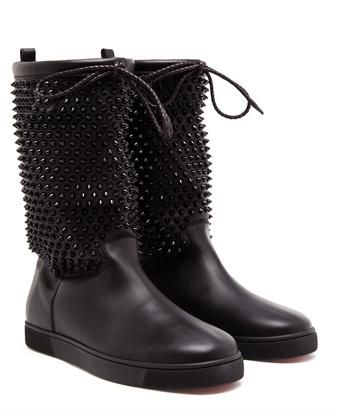 christian louboutin naza studded leather snow boots l a c e e m rh pinterest co uk
