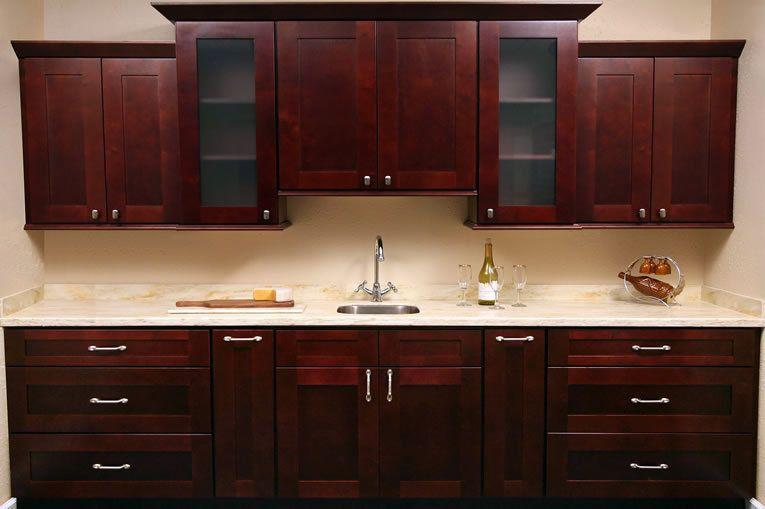 Beau Shaker Style Kitchen Cabinets   Mocha Shaker Kitchen Cabinet Set ORTS   RTA Cabinet  Hub