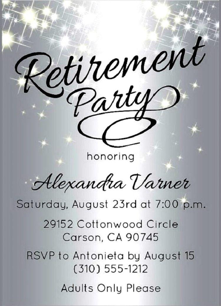 Retirement Party Invitations Flyer Retirement Invitation