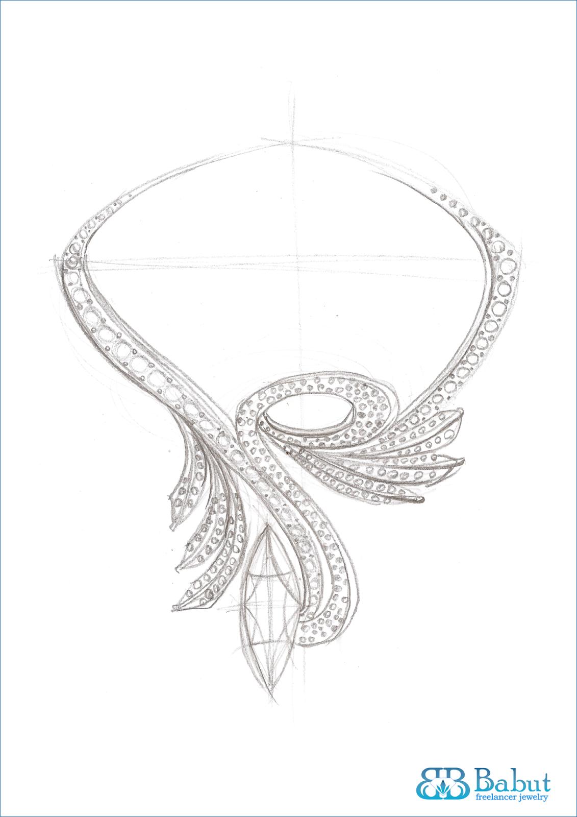 sketches design jewelry - Babut Florin Valentin | เครื่องประดับ ...