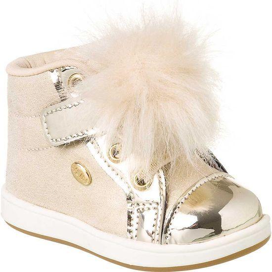 96adf974fb Tênis Bebê Feminino Klin Mini Gloss Pompom - KLIN moda infantil ...