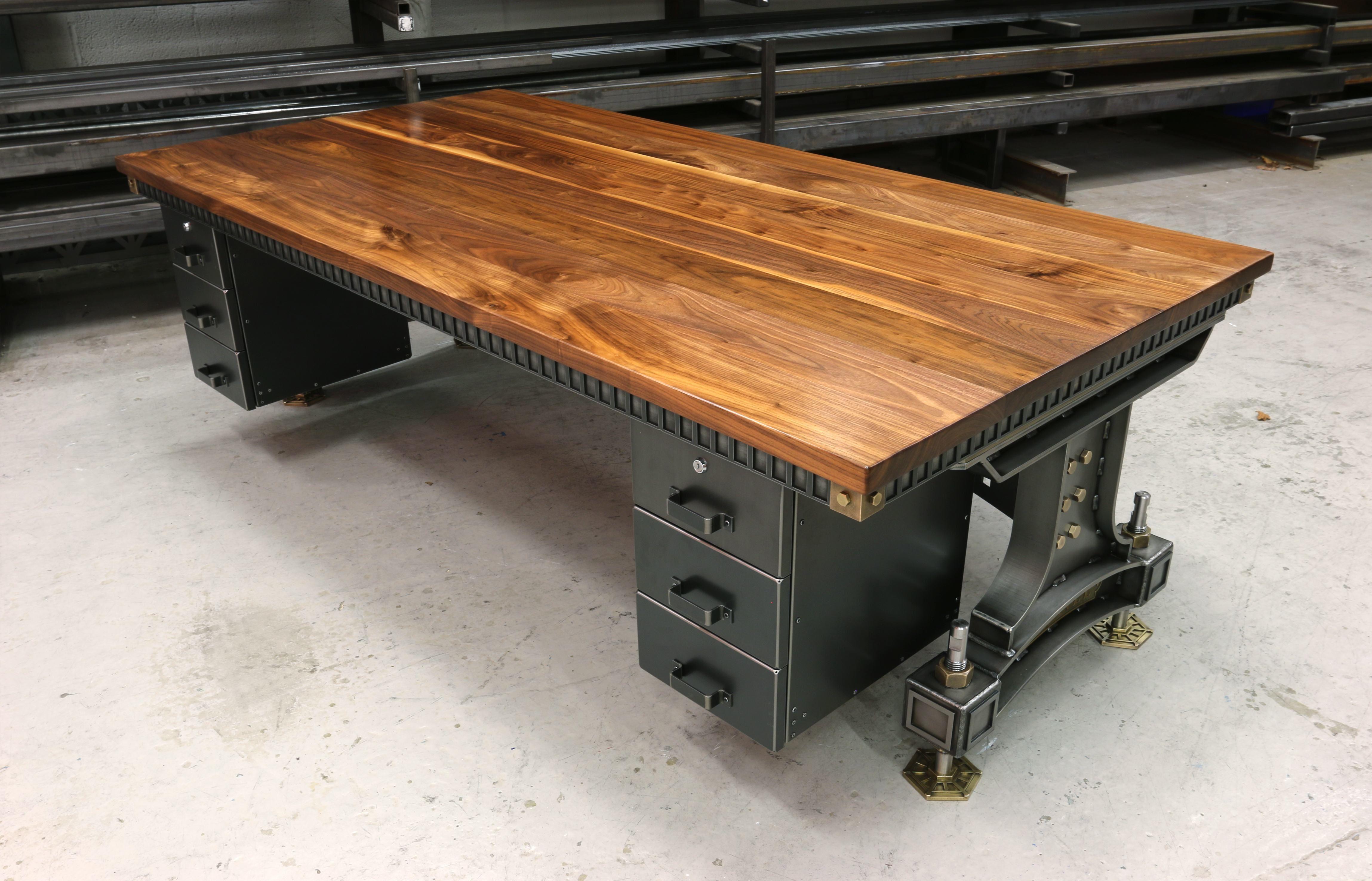 The Brunel Desk Handmade Industrial Desk Uk Steel Vintage Vintage Industrial Vintage Industrial Decor Vintage Industrial Desk