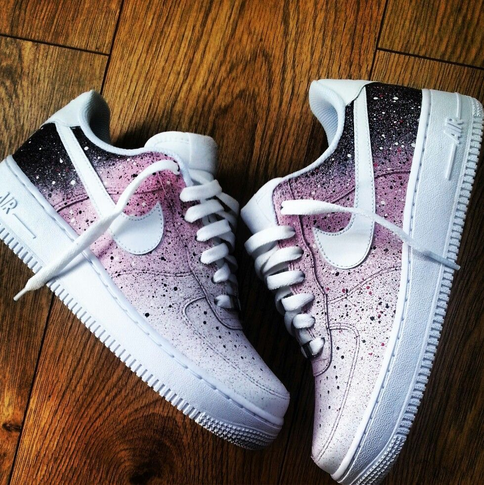 Nike Af 1 Pink Galaxy Customised All Uk Sizes ! Depop