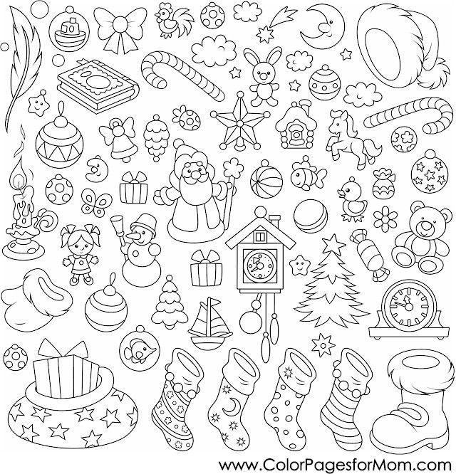 Christmas Coloring Page For Adults Christmas Collage Designs Coloring Books Christmas Coloring Pages Coloring Pages