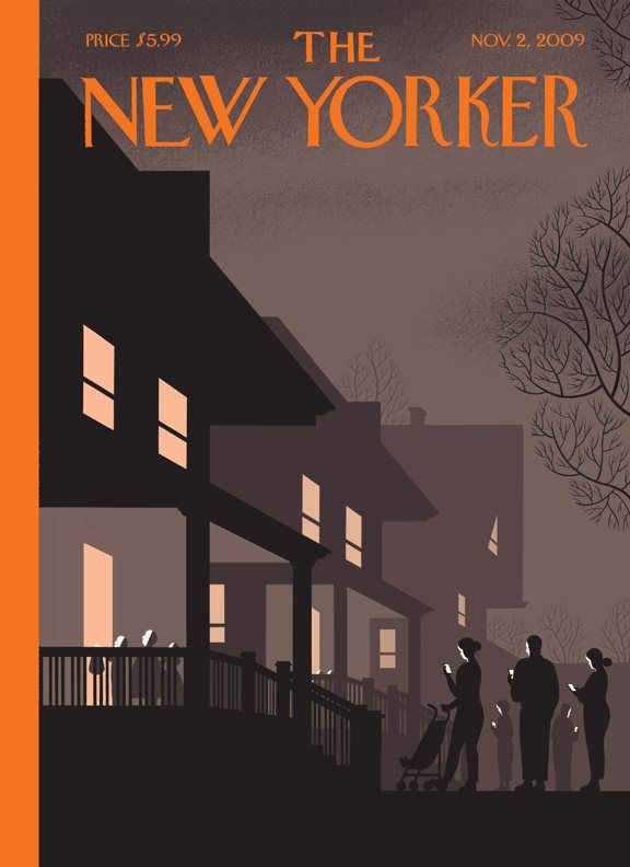 Chris Ware Halloween New Yorker cover cc @binx