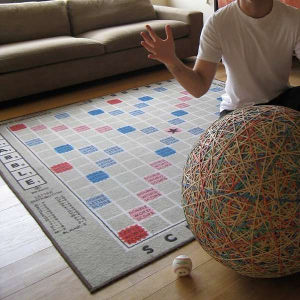 The Giant Scrabble Rug Gets Wordplay Fanatics On Board At All Times Trendhunter