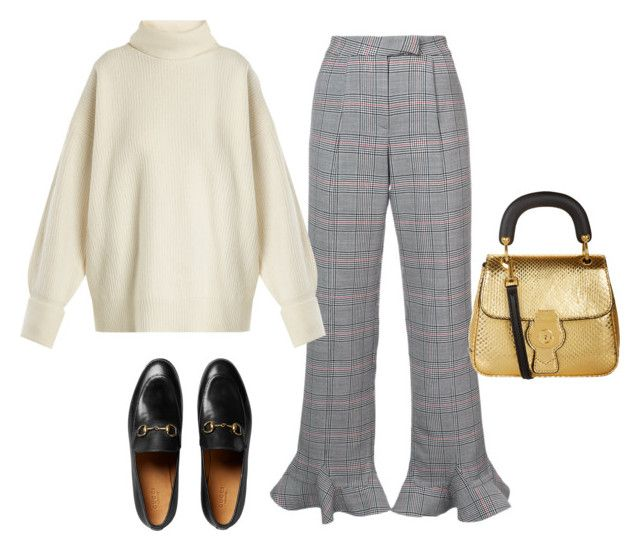 """💭"" by femmedior ❤ liked on Polyvore featuring Rosie Assoulin, Maison Margiela, Burberry and Gucci"