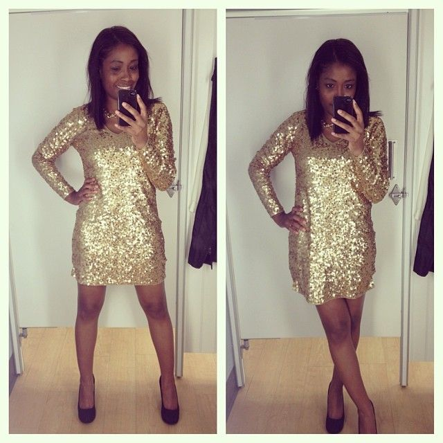 fabdefac7297 Gold sequin dress at Marshalls
