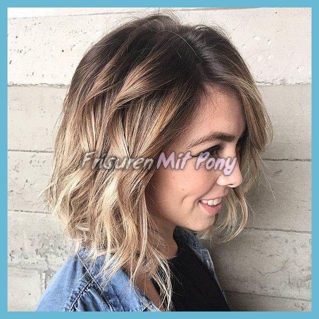 Haarschnitte 2018 Moderne Shag Haarschnitt Hatte Pony Zopf Einen