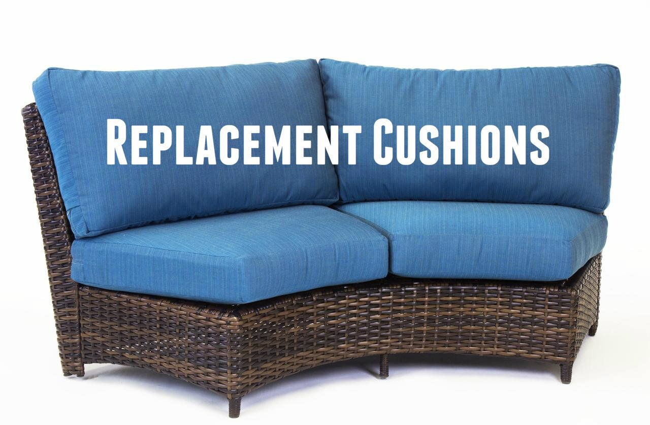 Replacement Cushions For South Sea Rattan Saint Tropez Curved Wicker Loveseat Patio Furniture Replacement Cushions Wicker Loveseat Replacement Cushions