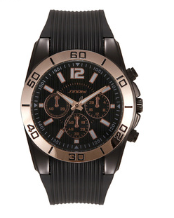 S9448G silicone band stainless steel back men`s watch
