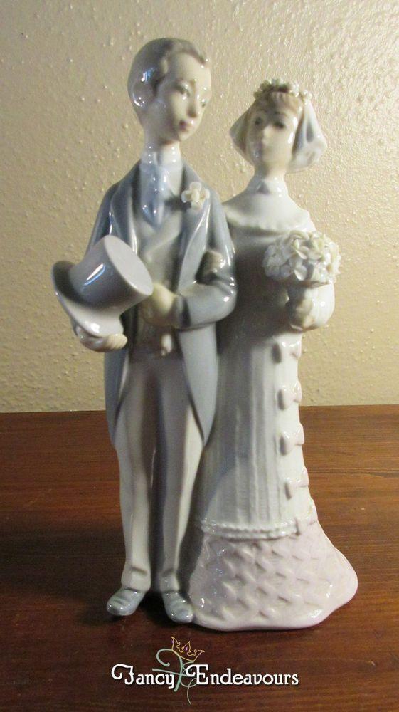 Retired Lladro Bride Groom 4808 Wedding Cake Topper Figurine