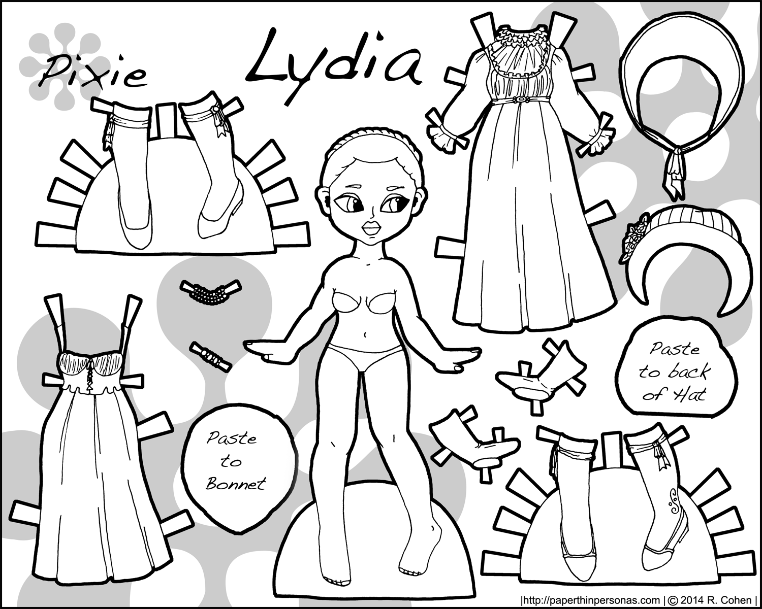 Pixie Lydia A Regency Paper Doll Thin Personas